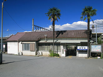 Hachigata Station - The station building in November 2012 before rebuilding