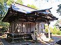 Haiden of Sakamine-jinja shrine in Haramachi ward.JPG