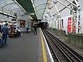 Hammersmith (District) station westbound District look east.JPG