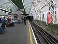 Hammersmith (District) station westbound District look east.JPG