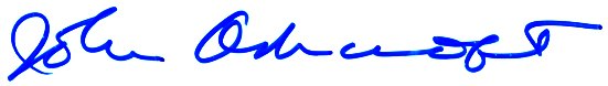 John Ashcroft's signature