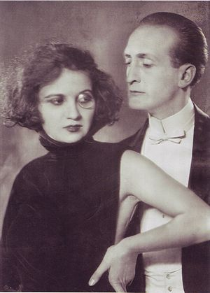 Hans Albers - Hans Albers with a woman, 1924