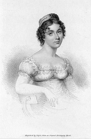 Harriette Wilson - Portrait engraved by Cooper, from original drawing by Birch