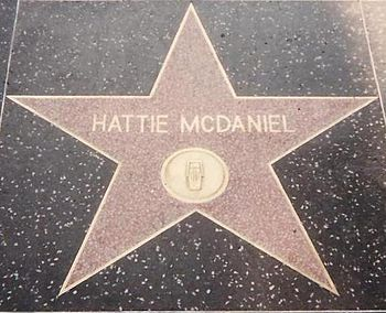 English: Hattie McDaniel's star on the Hollywo...