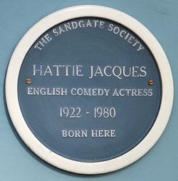 Photo of Hattie Jacques blue plaque