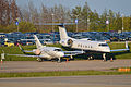 Hawker 900XP 'G-KTIA' & Gulfstream IV 'N388CA' (14001441096).jpg