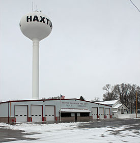 The fire department/police station in Haxtun, Colorado