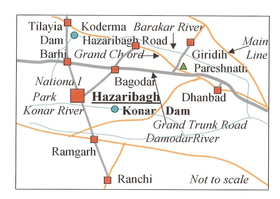 Hazaribagh Map