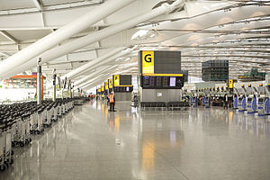 Heathrow Terminal 5 - Check-in Area in the main building