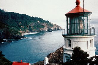 Chance Brothers - Heceta Head Lighthouse in Oregon.  The Chance Brothers Fresnel lens, built in the early 1890s, is still in operation at this historic light station