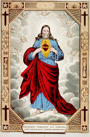 English: Sacred heart of Jesus Español: Sagrad...