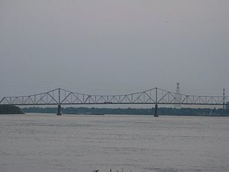 Helena–West Helena, Arkansas - The U.S. Route 49 Bridge that connects Helena, Arkansas with Lula, Mississippi