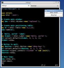 a gui hello world program written in perl