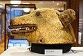 Helmet, Tlingit, Alaska, before 1867, wood, bear skin, tooth, iron - Native American collection - Peabody Museum, Harvard University - DSC06144.jpg
