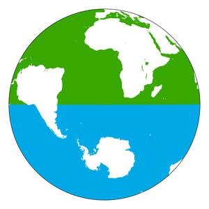 Land and water hemispheres - Image: Hemispheres land water 2