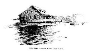 Glen Cove, New York - Hempstead Harbour Yacht Club House c 1894