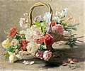 Henri Biva, Panier de roses rouges et blanches, oil on canvas, 54 x 65 cm.jpg