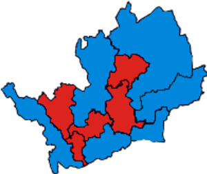 Parliamentary constituencies in Hertfordshire - Image: Hertfordshire Parliamentary Constituency 2001Results