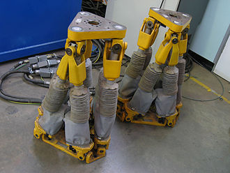 Parallel manipulator - Hexapod positioning systems, also known as Stewart Platforms.