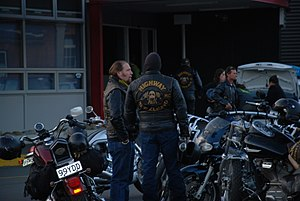 Gangs in New Zealand - Highway 61 members in Wellington, New Zealand