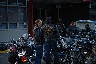 Gangs in New Zealand - Highway 61 members in Wellington, New Zealand