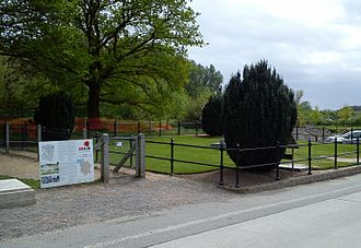Hill 60 (Ypres) - Entrance to the memorial site and park