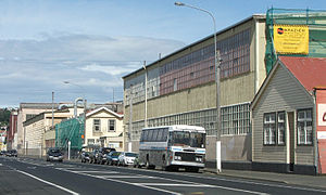 South Dunedin - The Hillside Workshops stretch for over 500 metres along Hillside Road, South Dunedin.