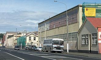 South Dunedin - The Hillside Workshops stretch for over 500 metres along Hillside Road, South Dunedin.