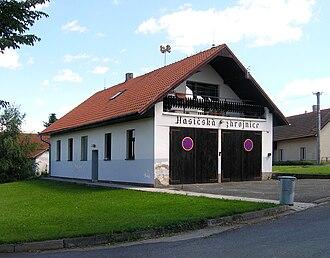 Hořice (Pelhřimov District) - Image: Hořice, fire house