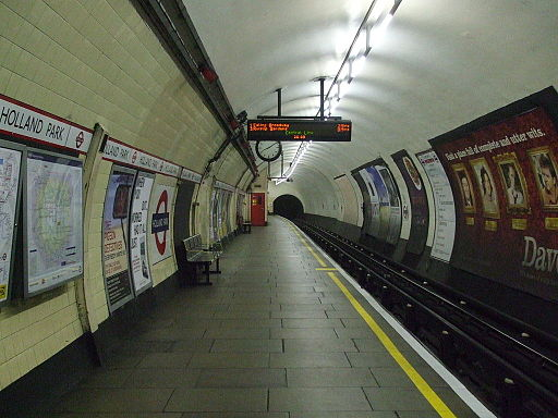 Holland Park stn westbound look east