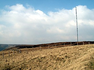 Holme Moss - Holme Moss towards Holme Moss transmitting station
