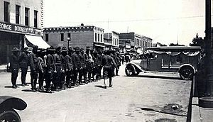 Akron, Iowa - Image: Honor Guard Akron, Iowa (1921)