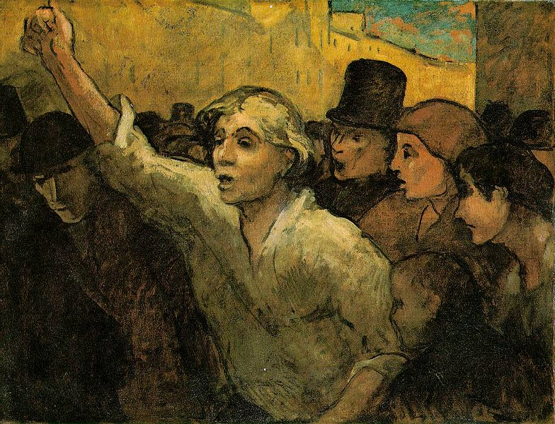 Image result for Daumier The uprising