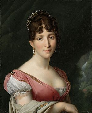 Hortense de Beauharnais - Portrait of Hortense painted by Anne-Louis Girodet de Roussy-Trioson, 1808