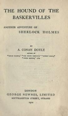 Hounds Of Baskerville Book