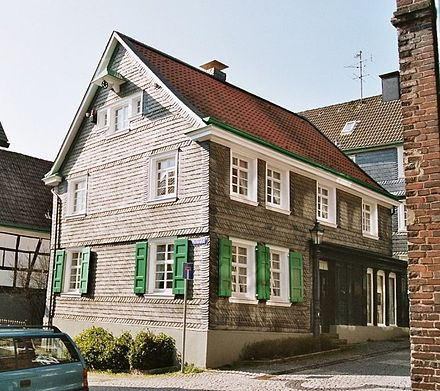 Birthplace of Roentgen in Remscheid-Lennep House-of birth of Wilhelm Conrad Roentgen.jpg