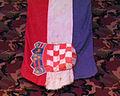 Hrvatski povijesni muzej 27012012 Domovinski rat 54 Zastava prva raketna topovnjaca HRM Sibenik RTOP 21.jpg