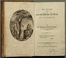 Die Kunst, das menschliche Leben zu verlängern, Erstdruck (1797) (Quelle: Wikimedia)