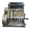 Hungarian Antique three-column full-keyboard cash register 1902.jpg