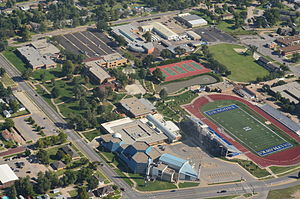 Cosmosphere - Aerial view of Kansas Cosmosphere and Hutchinson Community College (2014)