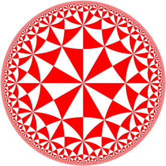 Poincaré disk model - The (6,4,2) triangular hyperbolic tiling that inspired M. C. Escher