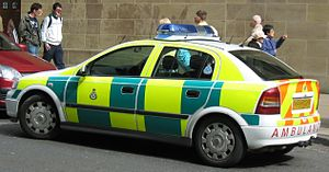 Scottish Ambulance Service paramedic vehicle w...