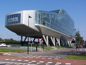 ING Group - ING House is the former ING Group headquarters (2002–2012) and NN Group head office (2012–2014)
