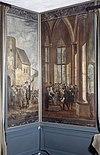 interieur, bovenkamer, geschilderd behang, panelen - nieuwenhoorn - 20264311 - rce