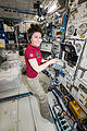 ISS-43 Samantha Cristoforetti with the TripleLux-A experiment.jpg