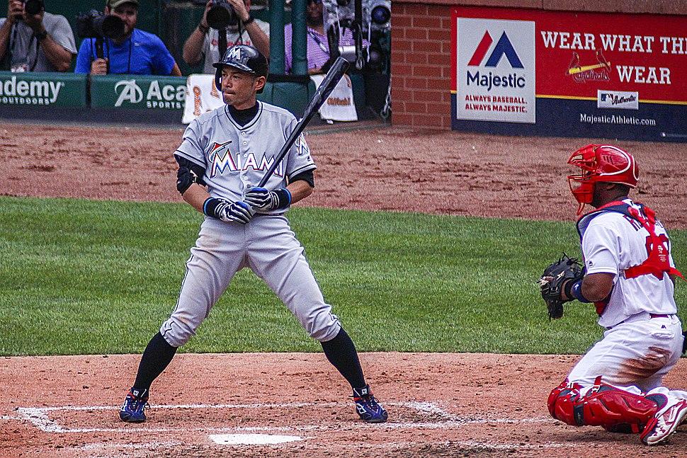 Ichiro Suzuki at the bat 2016
