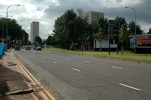 Icknield Street - Birmingham's Middle Ring Road.