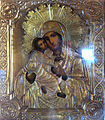 Icon of Madonna and Child covered with a Riza (Dormition Church at Kondopoga).jpg