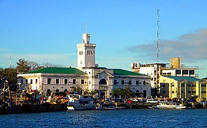 Iloilo City - Customs House (Casa de Aduana de Iloilo/Aduana de Iloilo) of Iloilo City and Calle Muelle Loney (Loney Wharf Street)
