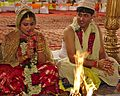 Indian bride-groom (8925311033).jpg